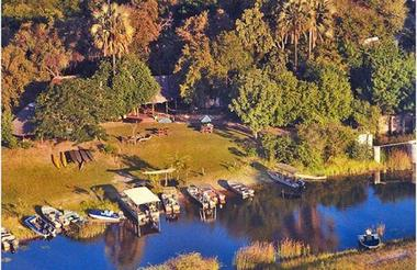 Aerial View of Okavango River Lodge