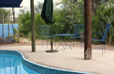 Swimming Pool Area at Tiaan's Camp